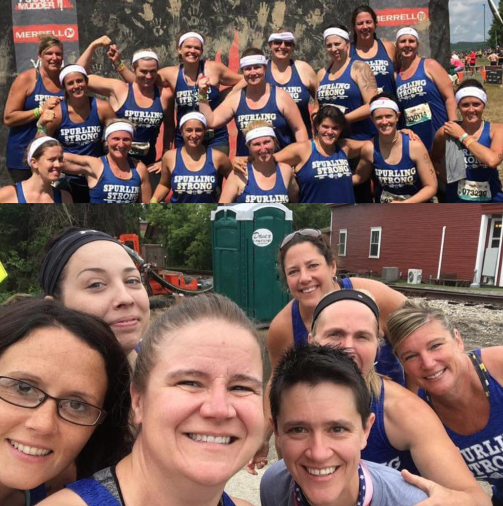 I firmly believe one of the reasons that races like the Tough Mudder are so popular is community, team, and play aspect of it. Also in searching for a portapotty in the middle of rural New Hampshire. That's fun too...