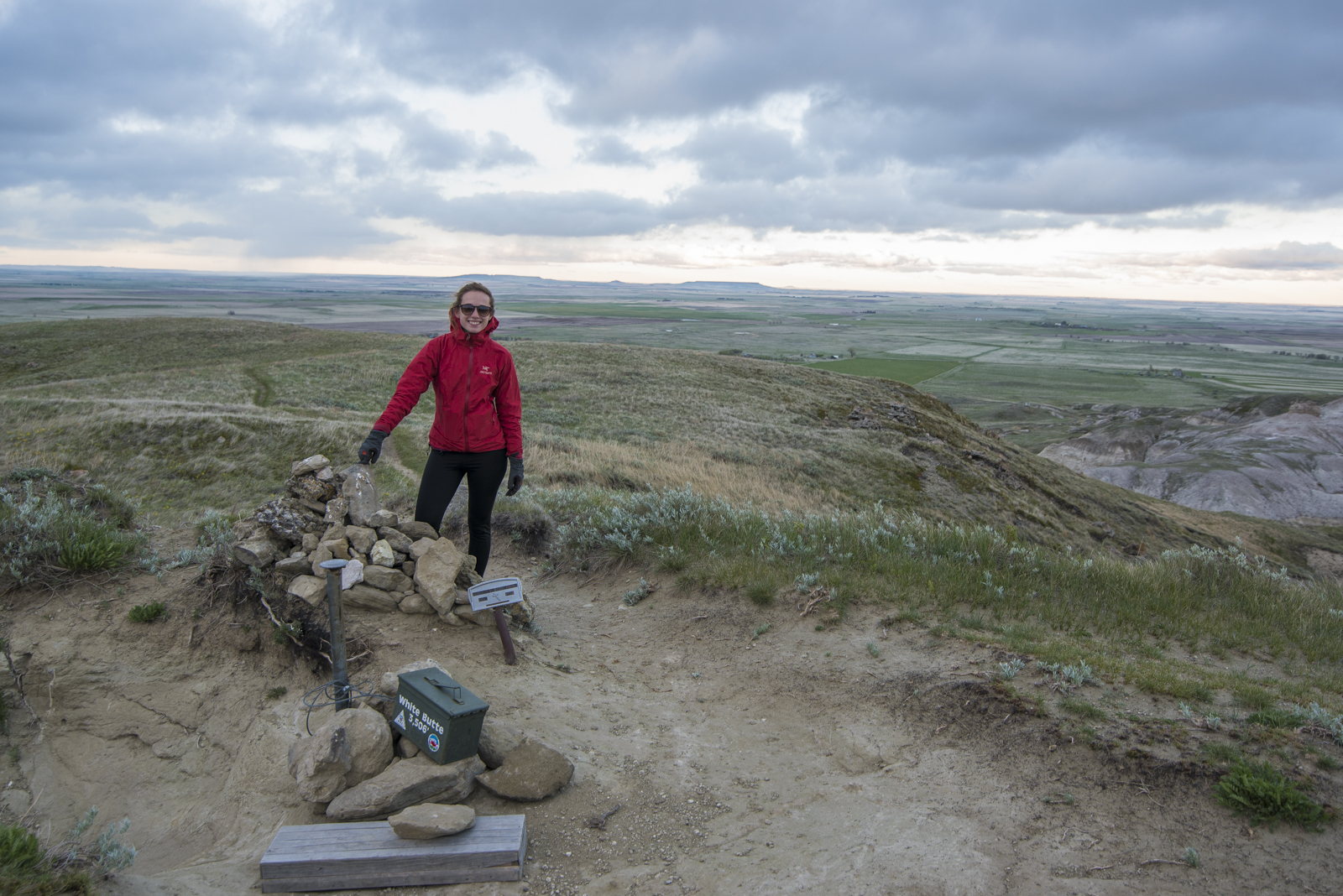 Megan on the summit of White Butte, North Dakota.