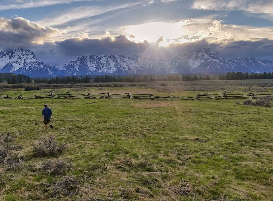 Chris Higgins snapping sunset in the Grand Tetons National Park, Wyoming.
