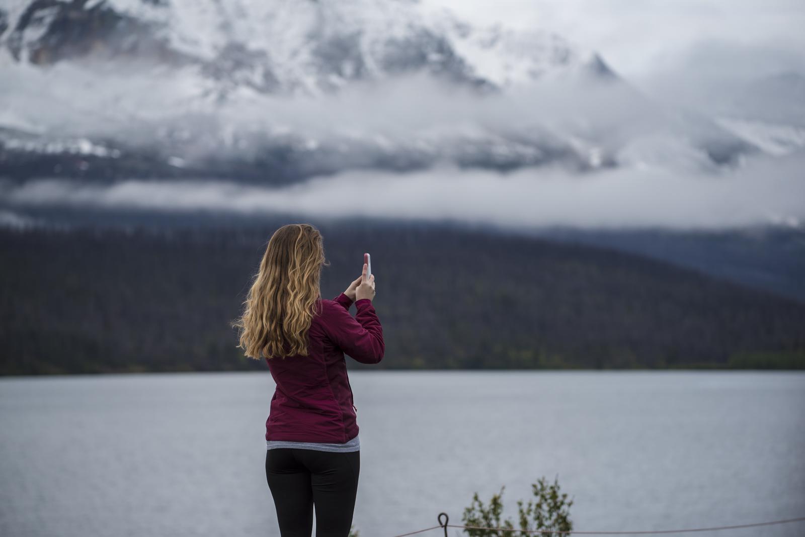 Megan at sunset in Glacier National Park, Montana.