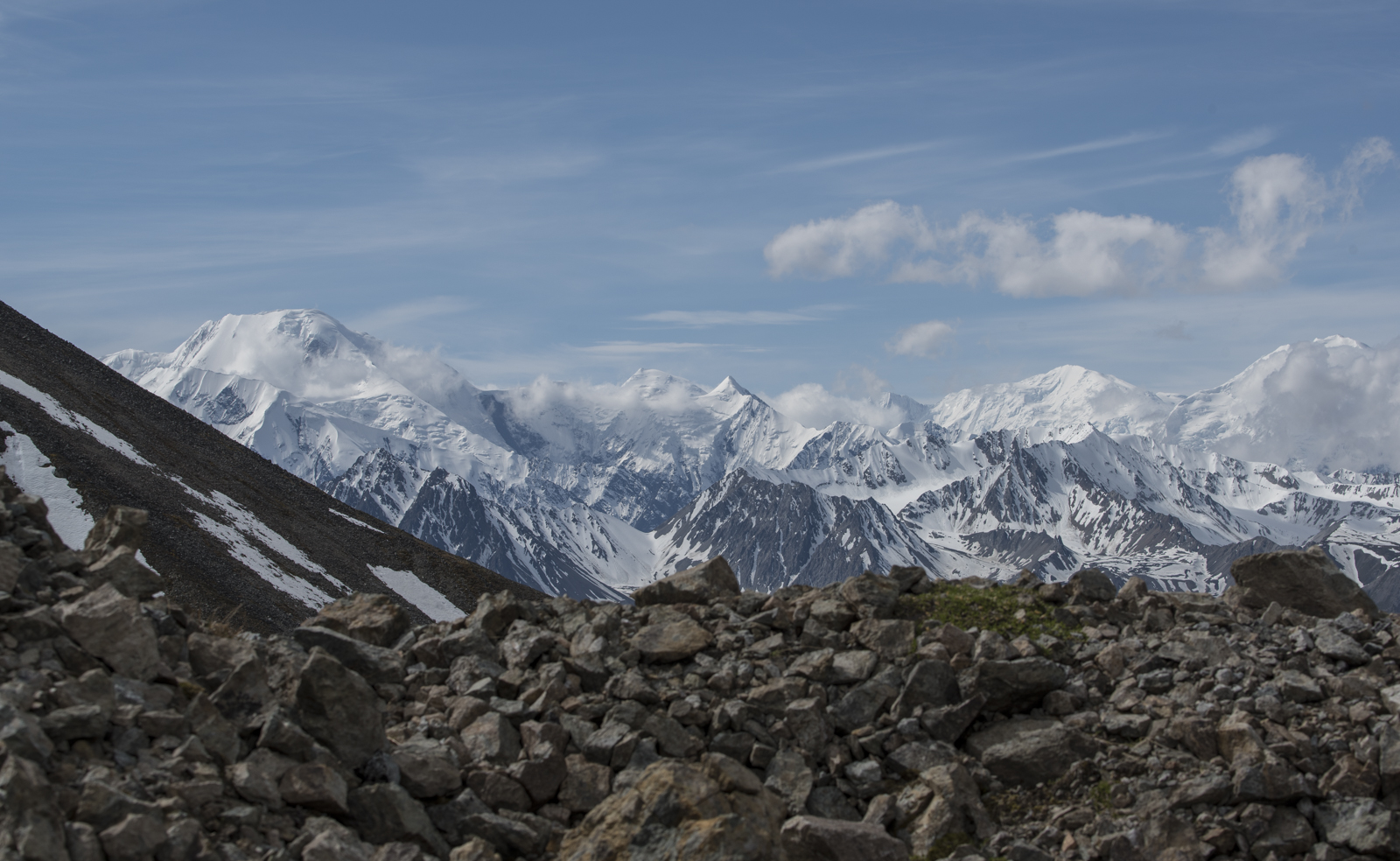 A view of the Alaska Range from Mount Eielson.
