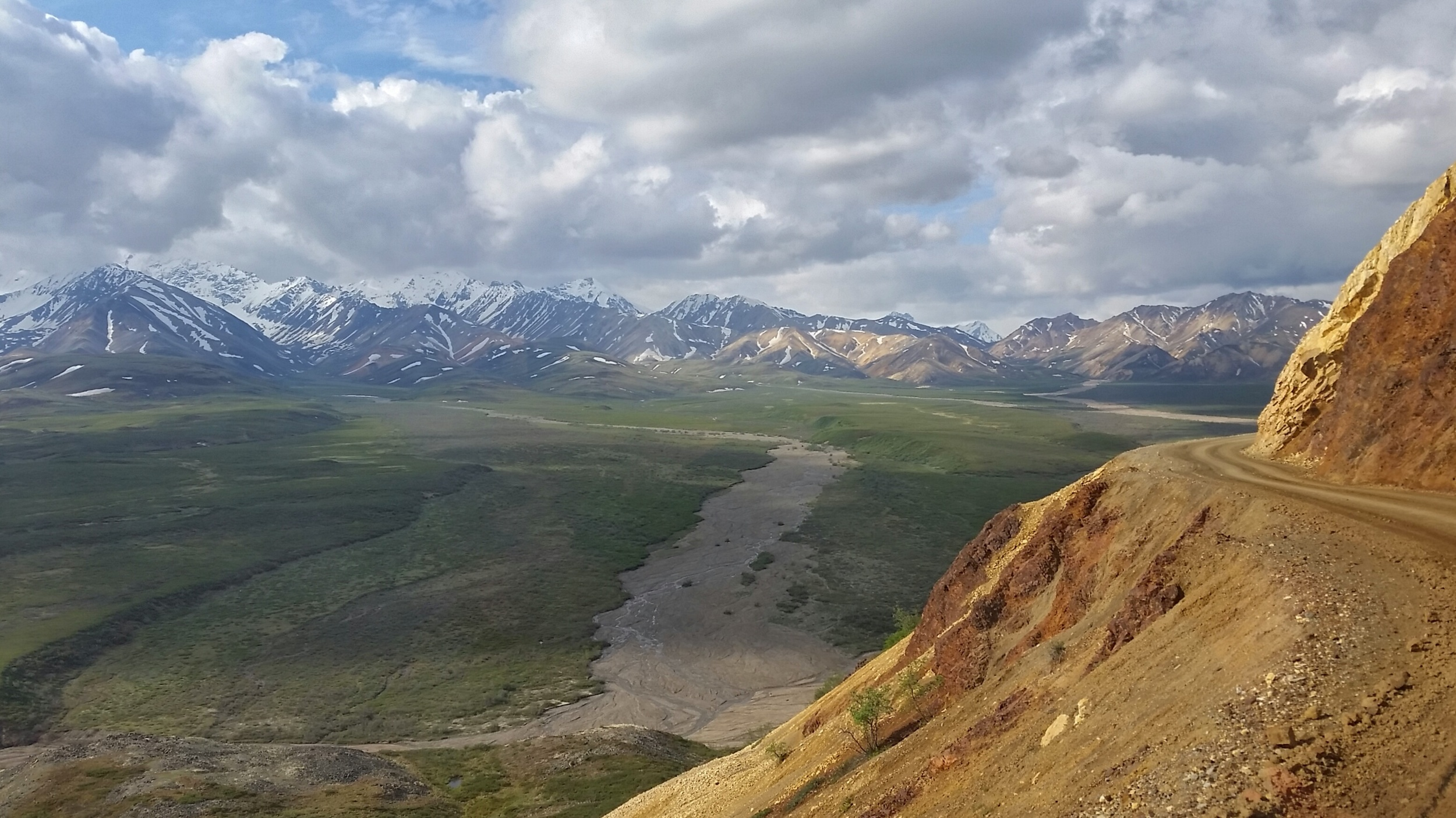 The road leading to Unit 13 in Denali National Park, Alaska.