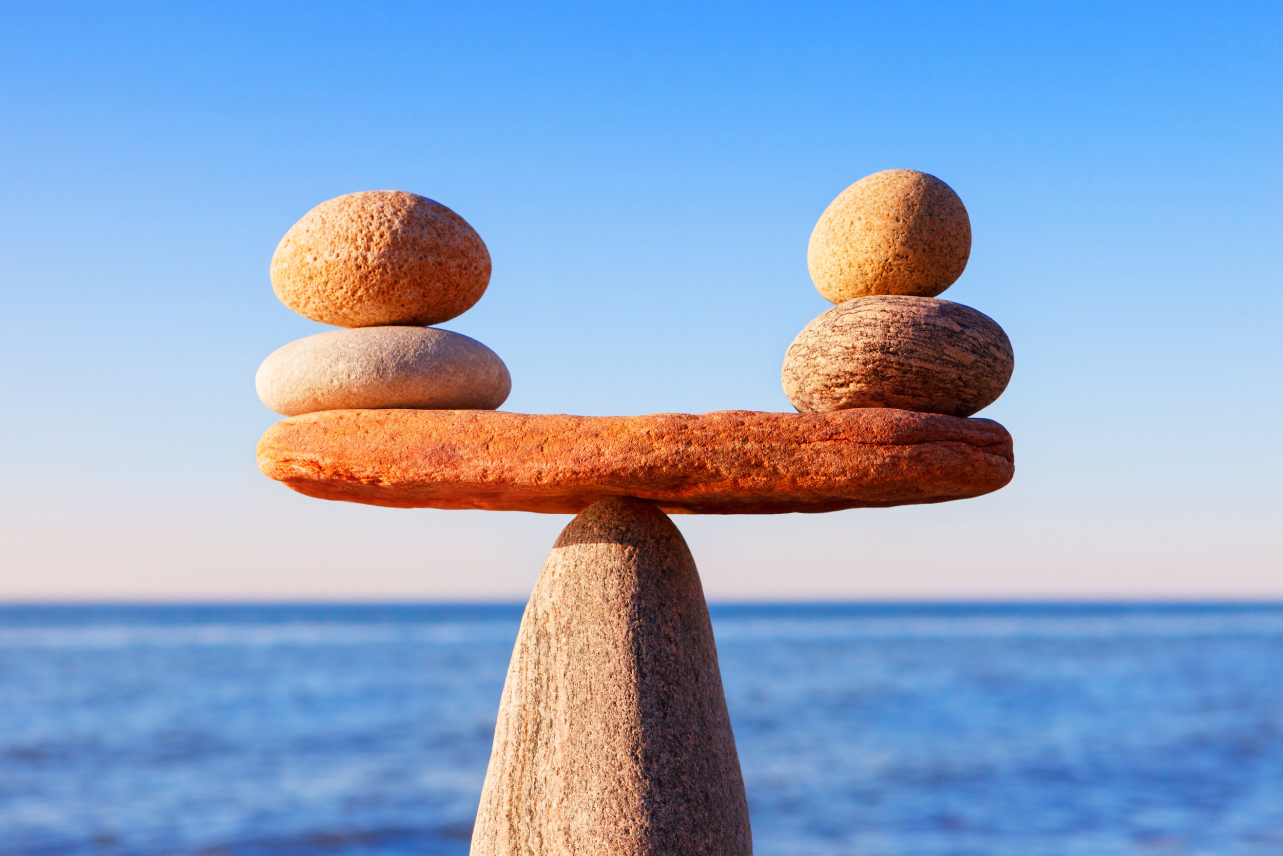 Picture of balancing rocks