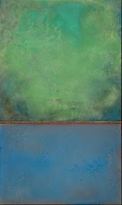 "Submerged    Dale Lindman mixed media on birch panels / 2010 size: 60"" 3/4 x 36"" 41-111"