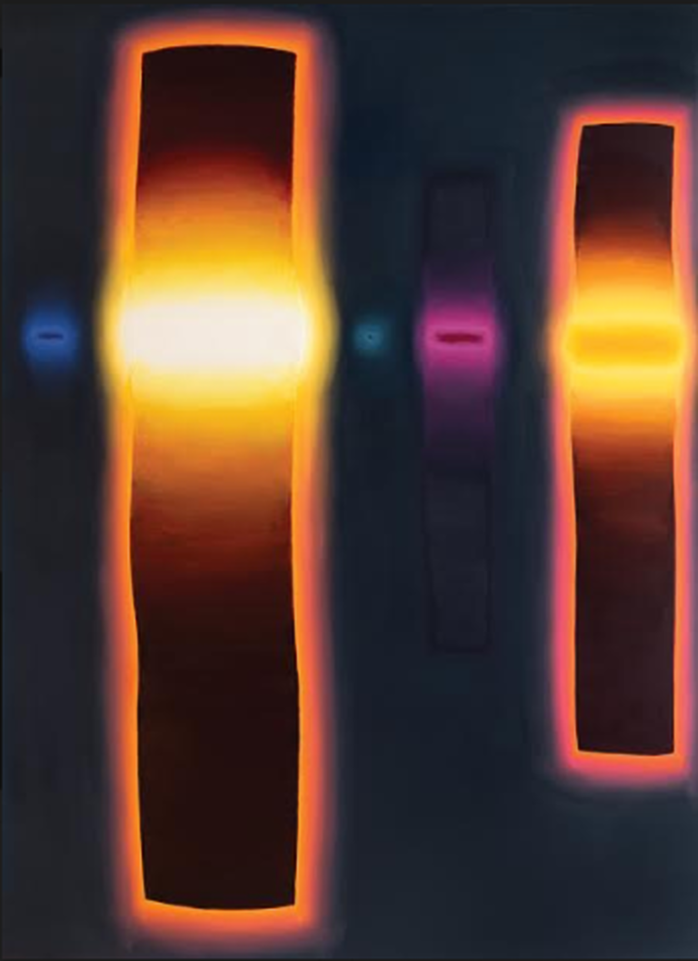 Gerard Mossé,    With Burning Patience , 79″ x 59″, 2012- 2016, oil on linen.