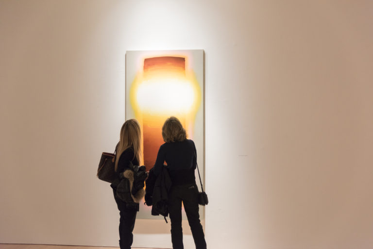 Opening night for Gerard Mossé at Marlborough Gallery, photo courtesy of the gallery.