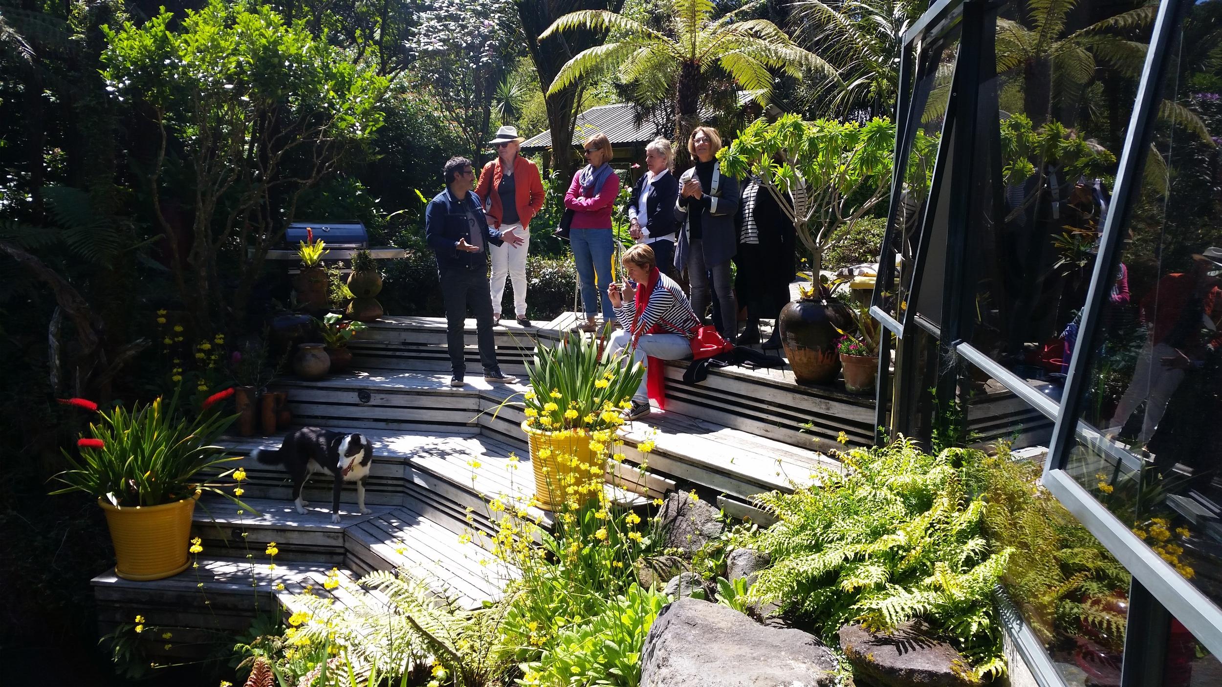 Reuben Paterson at home with Et Alia art group