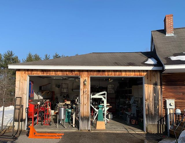First day warm enough to open the bay doors at the new shop.