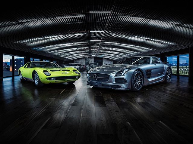 new series for @duttongarage featuring the Lamborghini Miura and the Mercedes-Benz SLS AMG.  Thanks to  Sam @cocoproductions  Dario @dbgdigital - -  Represented in the USA Jay Foster @46pictures - - - - - #lamborghinimiura #lamborghini  #mercedesbenz #mercedesbenzsls #mercedesamg #supercar #supercars #phaseone #phaseonephoto  #phaseone100mp #captureone