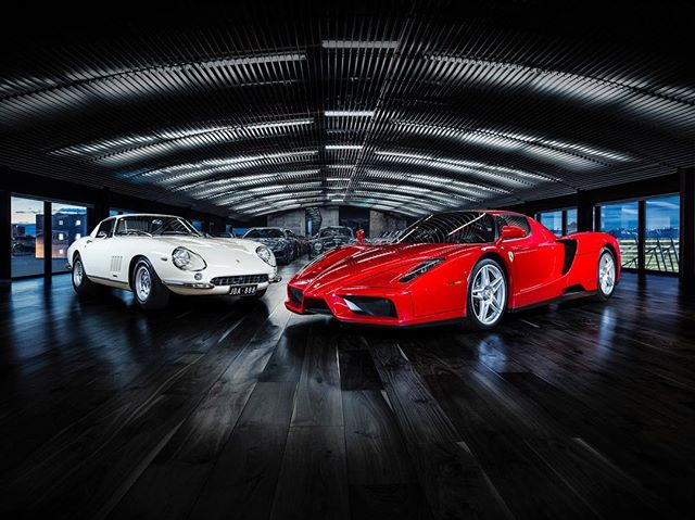 new series for @duttongarage featuring the Enzo Ferrari and the Ferrari 275 GTB/4. -  Thanks to  Sam @cocoproductions  Dario @dbgdigital - - - Represented in the USA Jay Foster @46pictures - - -  #enzoferrari #ferrari275gtb  #supercar #supercars  #clasiccar  #phaseone #phaseonephoto  #phaseone100mp #captureone