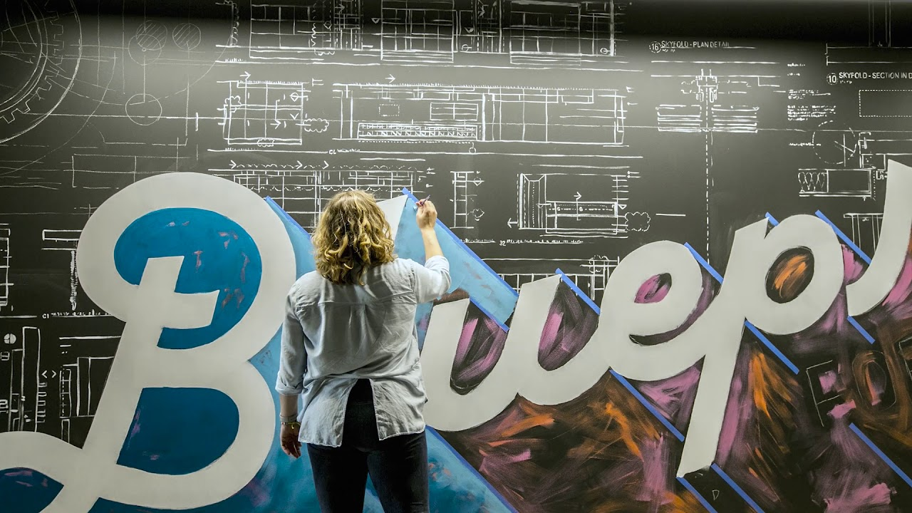 Amanda Paulson Skender Blueprint Mural