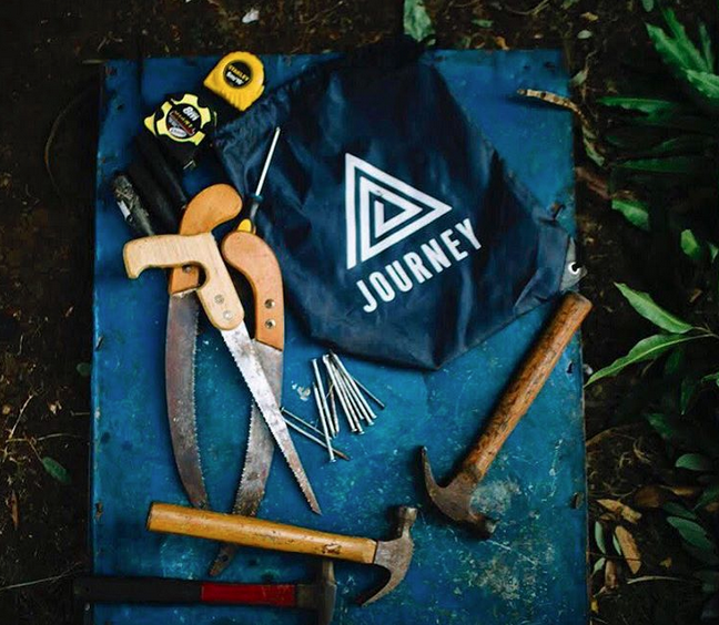 Journey's co-founders, Lauren Biegler, Taylor Conroy and Amy Merrill, formed Journey as a new approach to engaging first-hand with social impact projects.