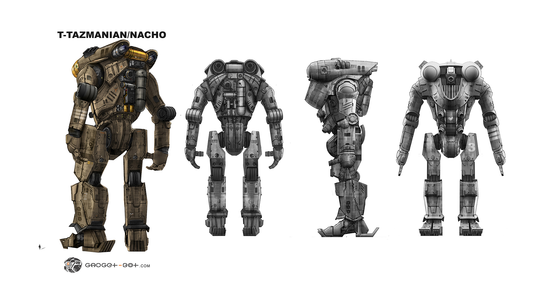 Final orthographic details focusing on the back design. Design of Jaeger by the talented : Francisco Ruiz Velasco.