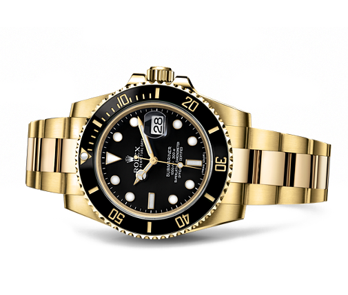 gina amir Atelier rolex sub black face solid 18K gold.png