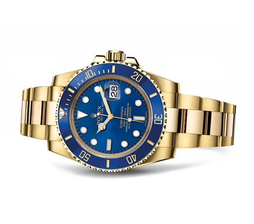 gina amir Atelier rolex sub blue face solid 18K.png