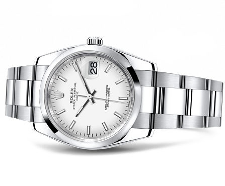 rolex watch datejust 36 mm gvin gol  white face.png