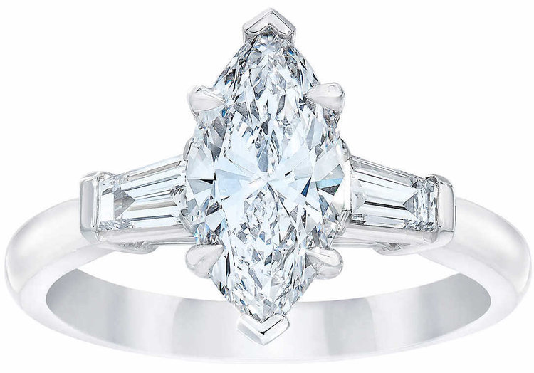 Marquise+Cut+1.94+ctw+VS2+Clarity,+D+Color+Diamond+Baguette+Platinum+Ring+1.jpg