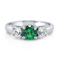 With an eye catching emerald  engagement ring , you don't need much to make it a showstopper. Minimal design and simple bands best show off this gorgeous birthstone.