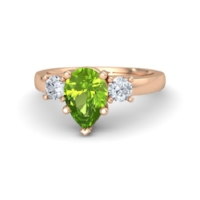 Peridot is said to have magical powers and healing properties, but we think that the bright green color alone is enough to make it a beautiful birthstone  engagement ring.