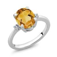 The clarity and color of citrine almost makes it look like a very dark champagne diamond. When presented in a gold setting, it gives off some very vintage vibes.