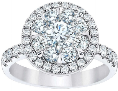 ROUND BRILLIANT 1.60 CTW VS2 CLARITY, I COLOR DIAMOND 14KT WHITE GOLD RING  2,520.00
