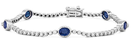 18K WHITE GOLD CAPRI SAPPHIRE AND DIAMOND BRACELET (3:4 CT.).png
