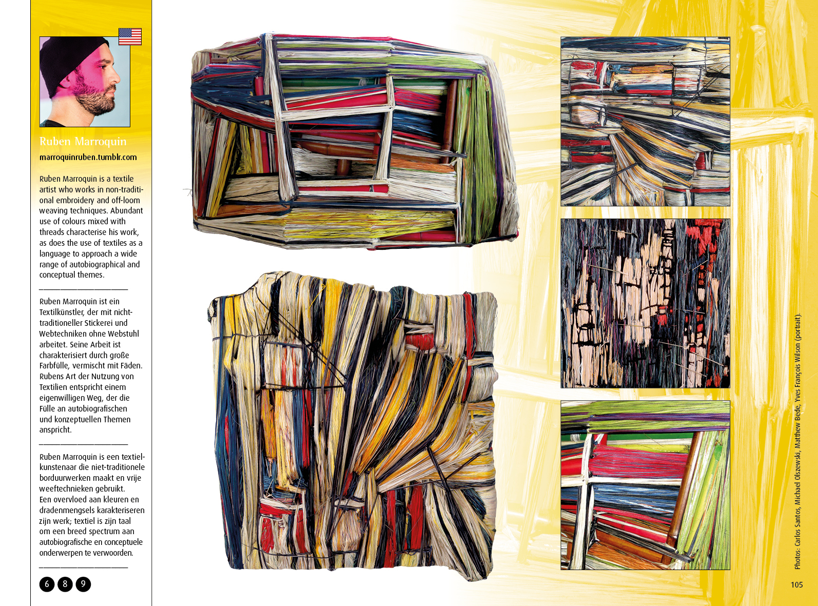 """ Textile art around the world - textile art worldwide '. The new book of textiellink www.textiellink.nl"