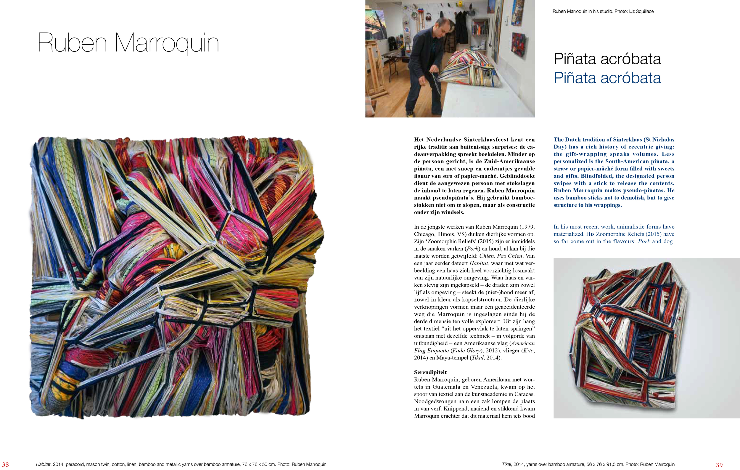 Rijswijk Museum's Textile Biennial 2015 Catalog.