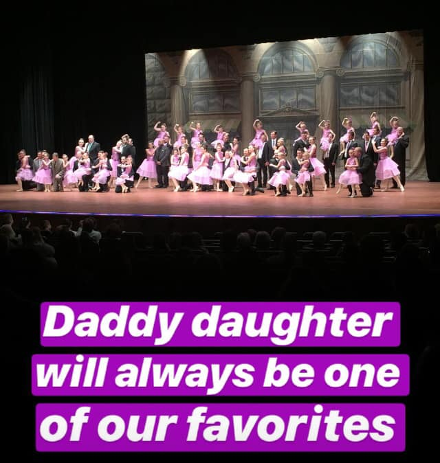 Daddy Daughter Dance at Recital