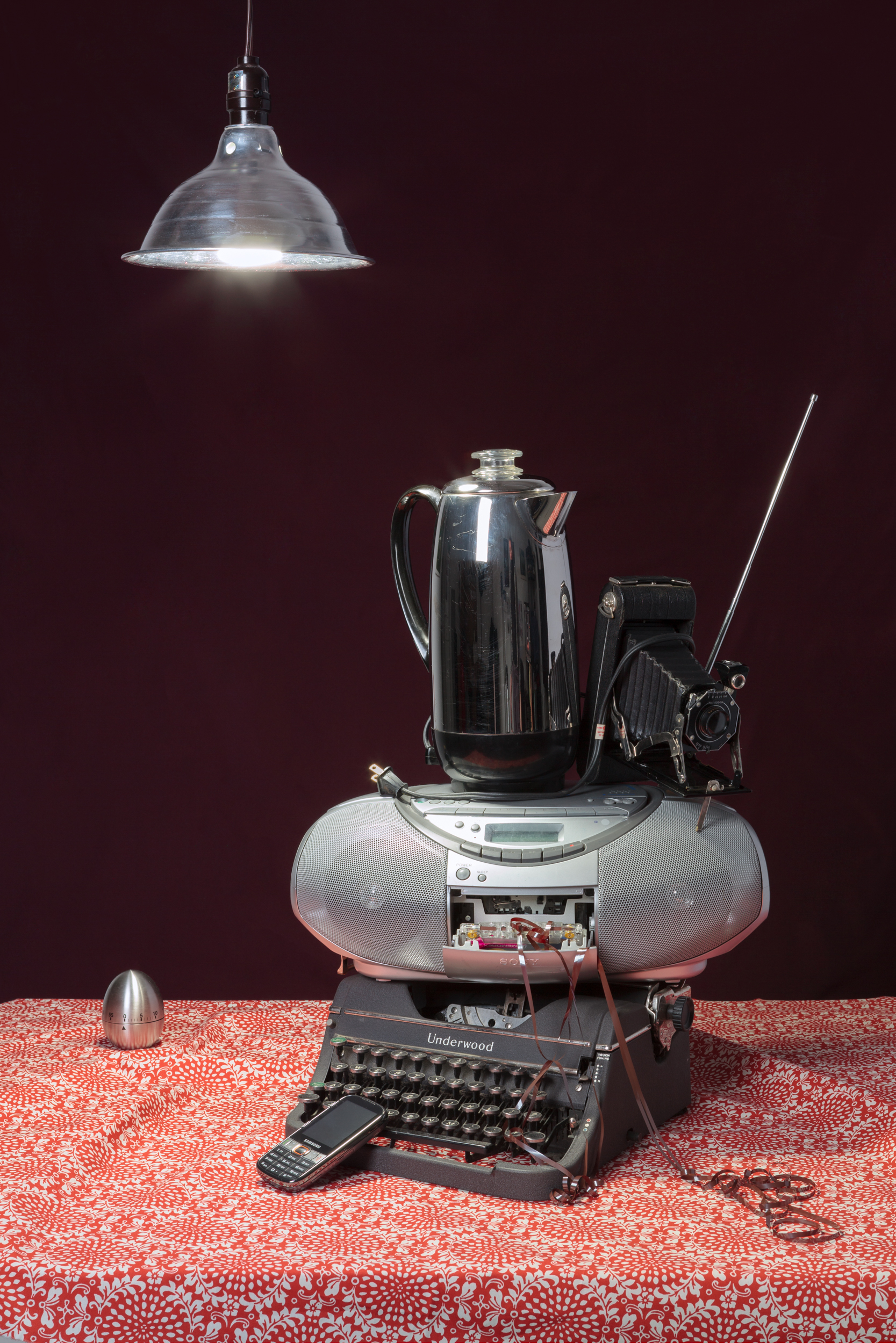 Tech Vanitas: Gray Typewriter