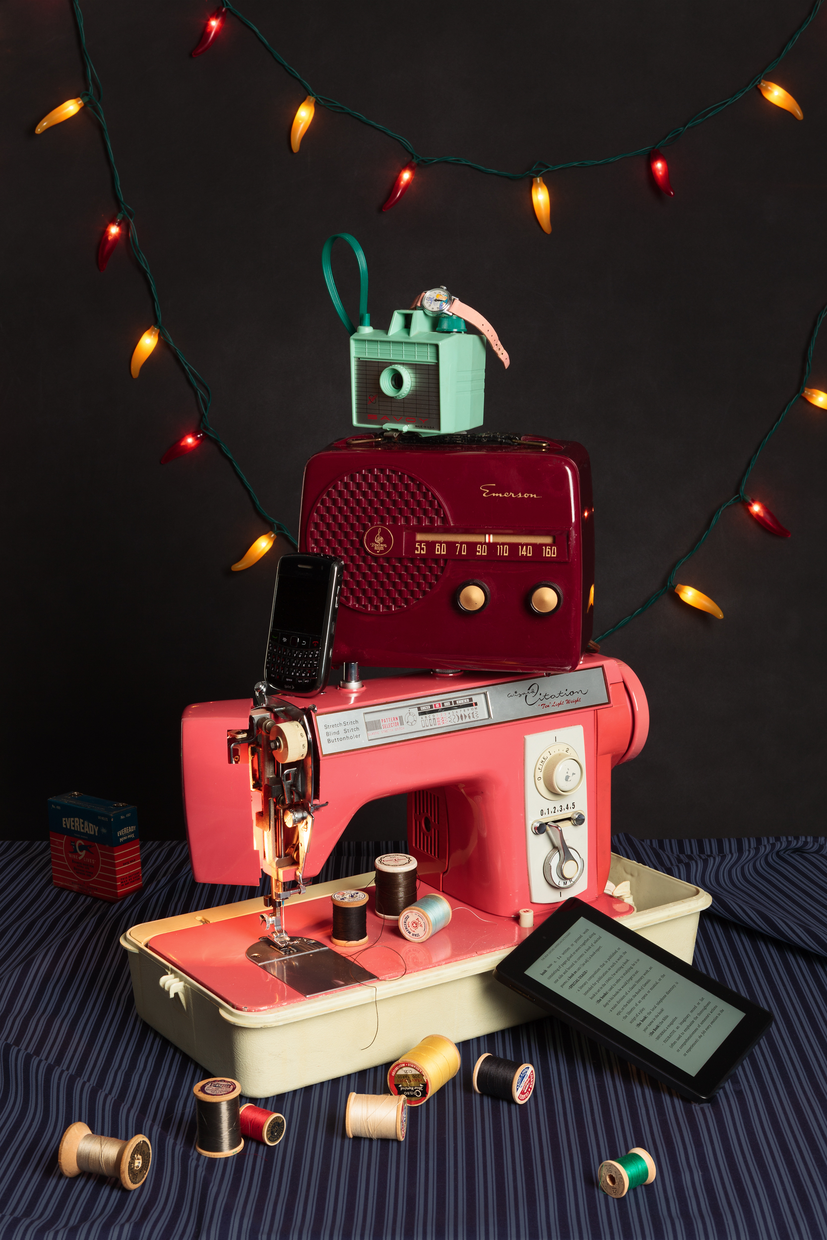Tech Vanitas: Pink Sewing Machine