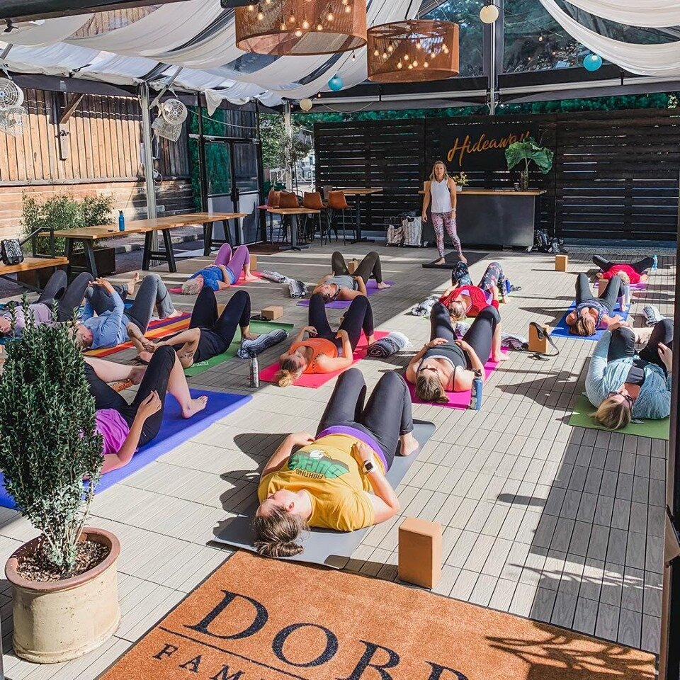 Yoga in wine country