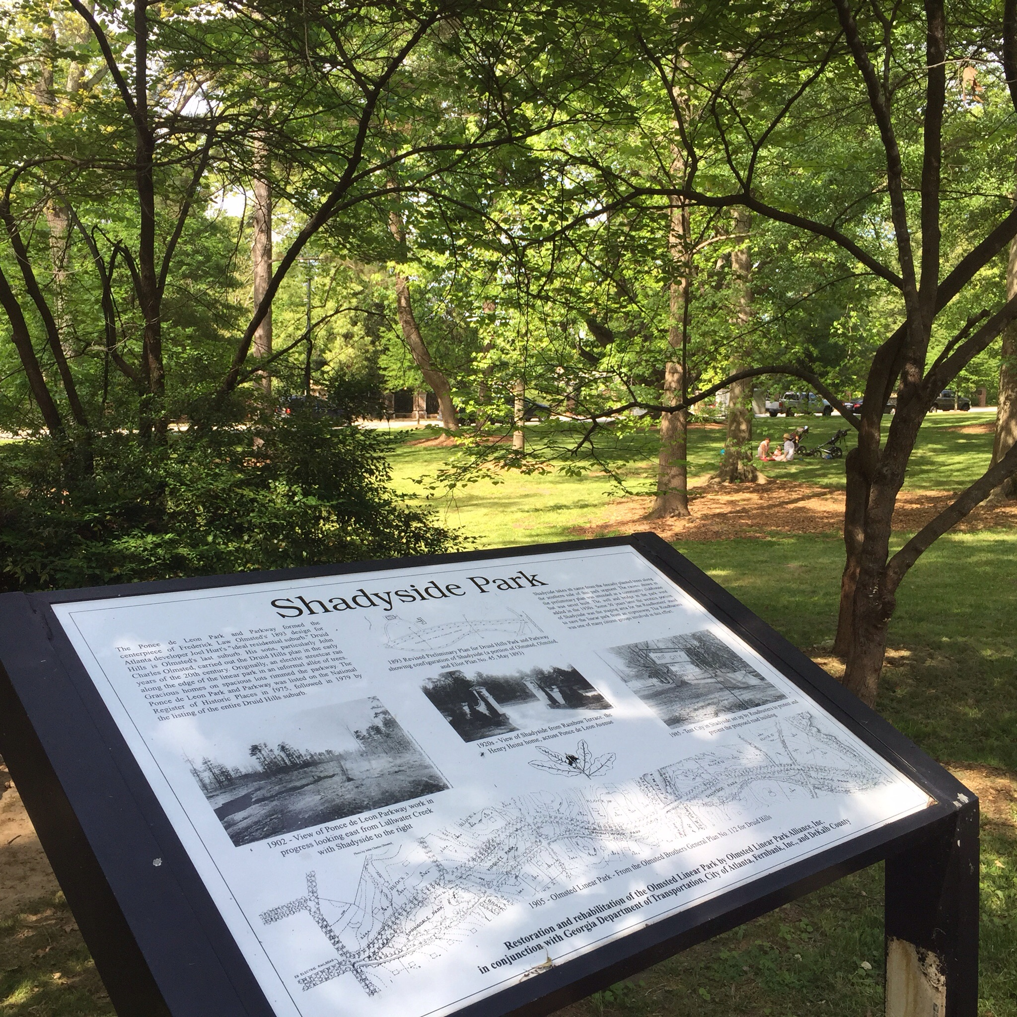 The parks are actually a string of six parks. Shadyside Park is an example of the structure and environment where this event was set.