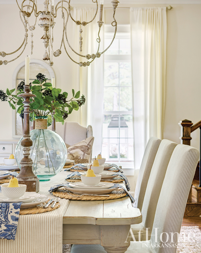 - Feature in the November issue of At Home in Arkansas Magazine. This beautiful Mountain Home, AR home uses neutrals and pastels to create a fresh take on the classic farmhouse style.Editor: Stephanie Maxwell NewtonPhotography: Rett PeekStyling: Hope Johnstone