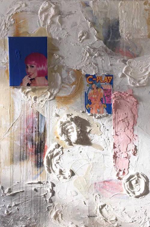 Yuki KasaÏ-Paré,  untitled , mixed media on wood panel, 2016