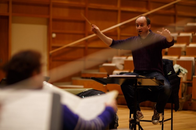 WORDS AND MUSIC    Stravinsky  A Soldier's Tale   Walton  Façade  Conductor -Anthony Weeden   14/11/2014    Colyer-Fergusson Hall,  Canterbury