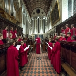 CQ Quartet  plays alongside the choir of  Jesus College Cambridge  directed by  Richard Pinel  in a performance of Vaughan Williams' Five Mystical Songs  27/06/2018  St Michael's Church  Framlingham, Suffolk