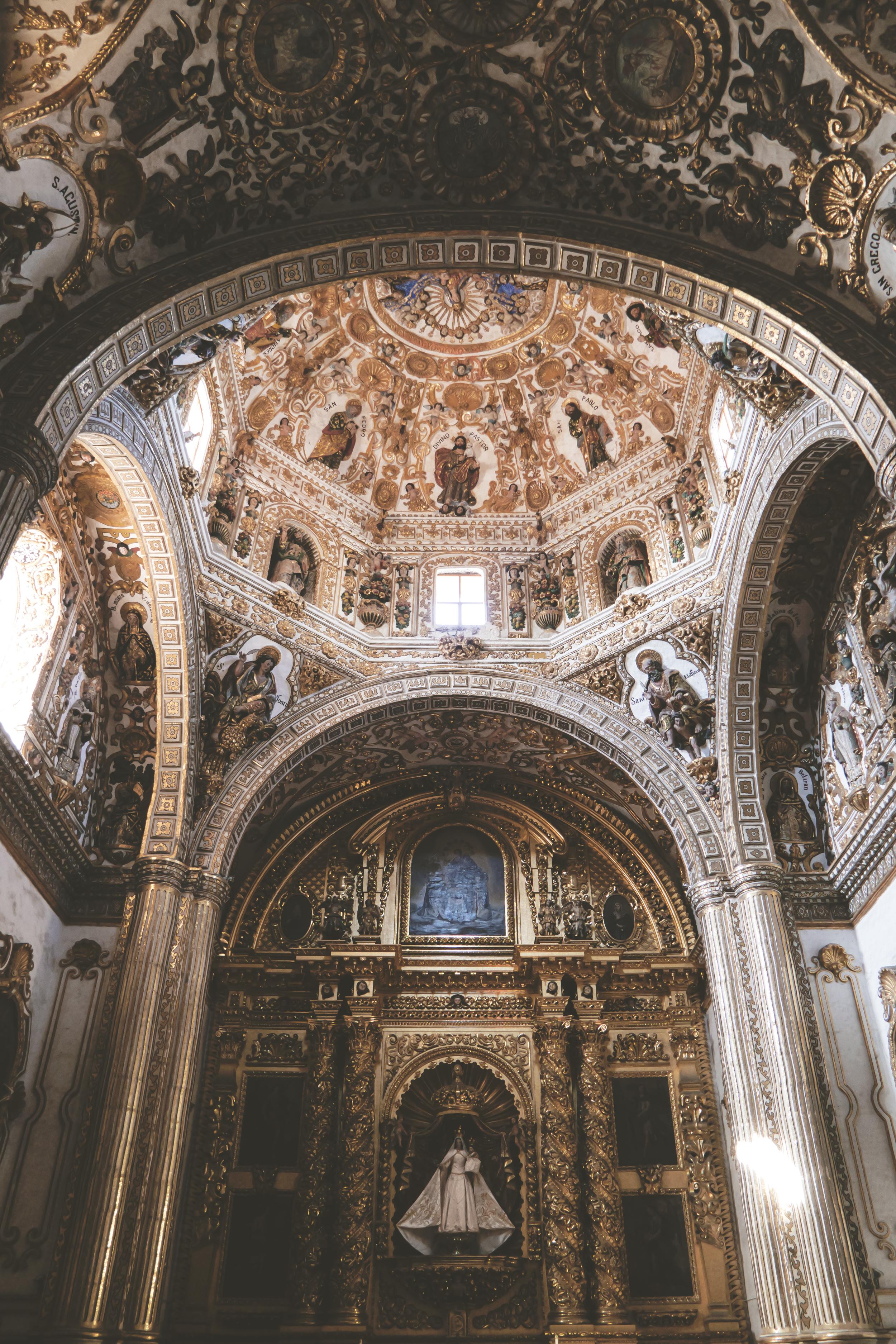Templo de Santo Domingo, arquitectura barroca novohispana.