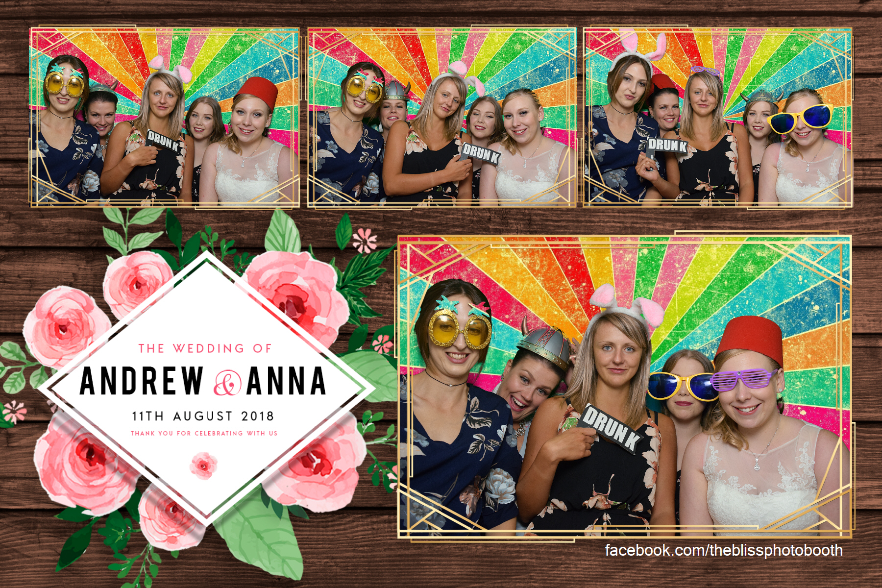 Andrew and Anna - Van Dykes Hotel Worksop - Photo Booth