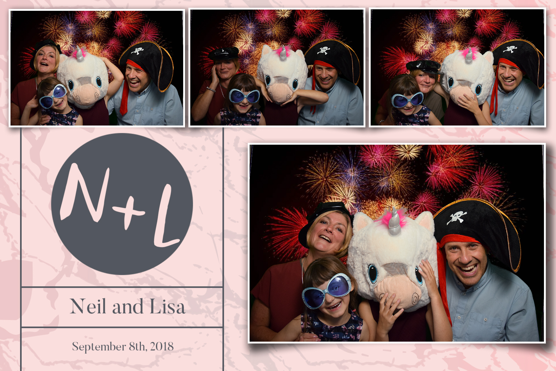 Neil & Lisa - Hilton Sheffield - Photo booth