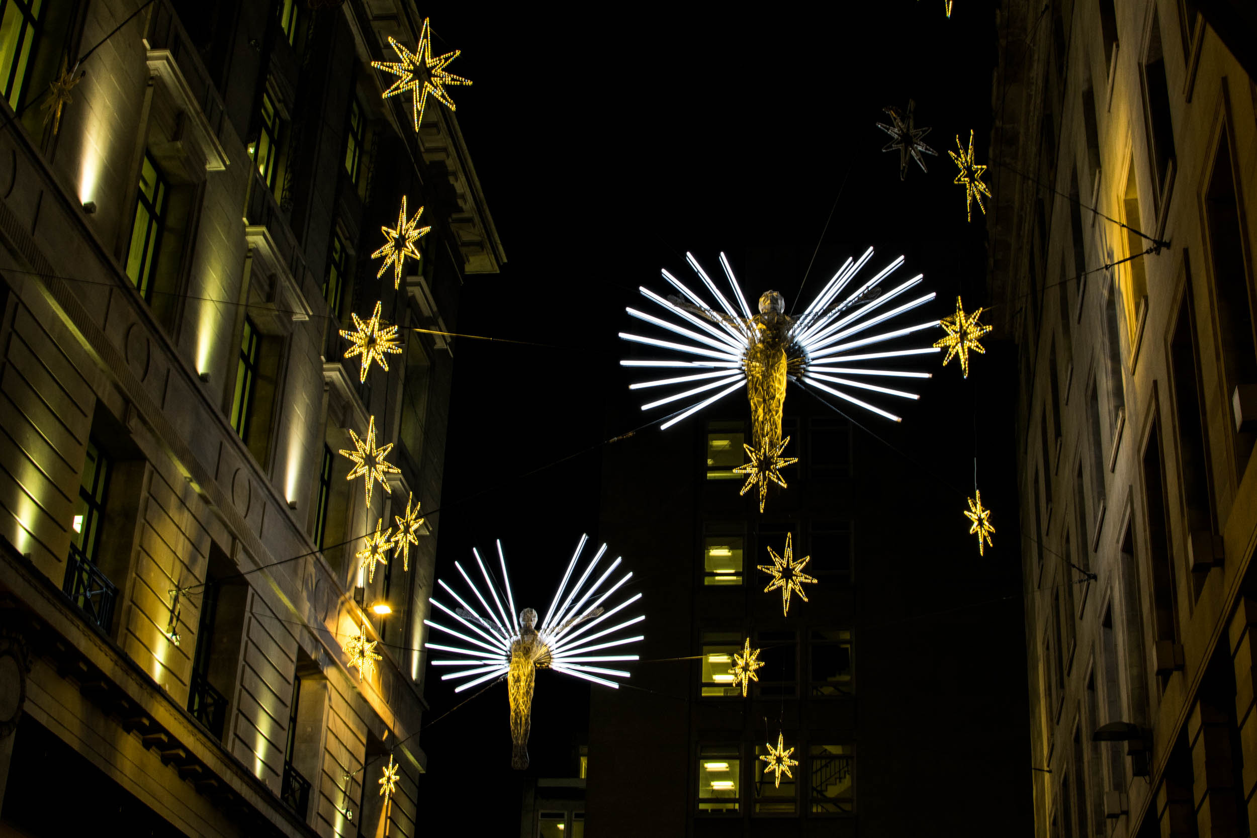 Christmas lights in central London.