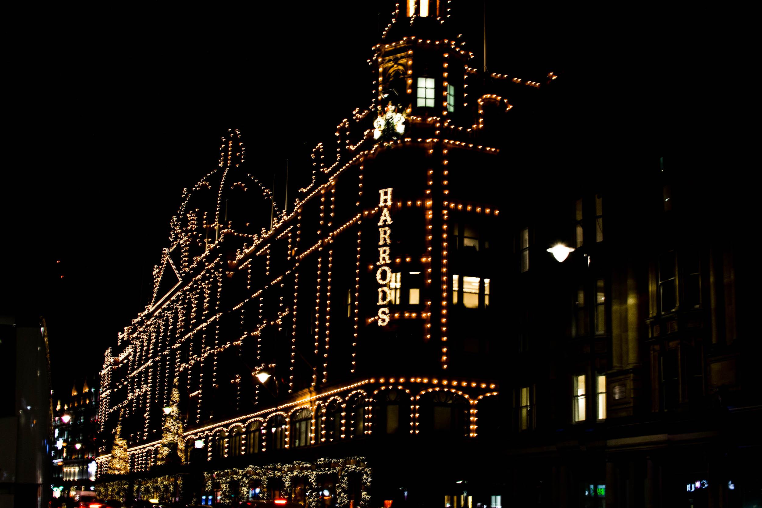 Harrods luxury department store, London.