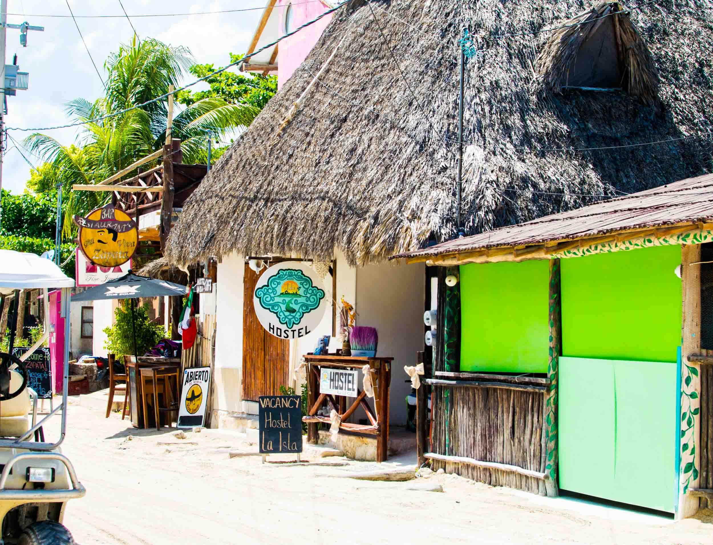 Hostel La Isla Holbox on Holbox Island, Mexico.