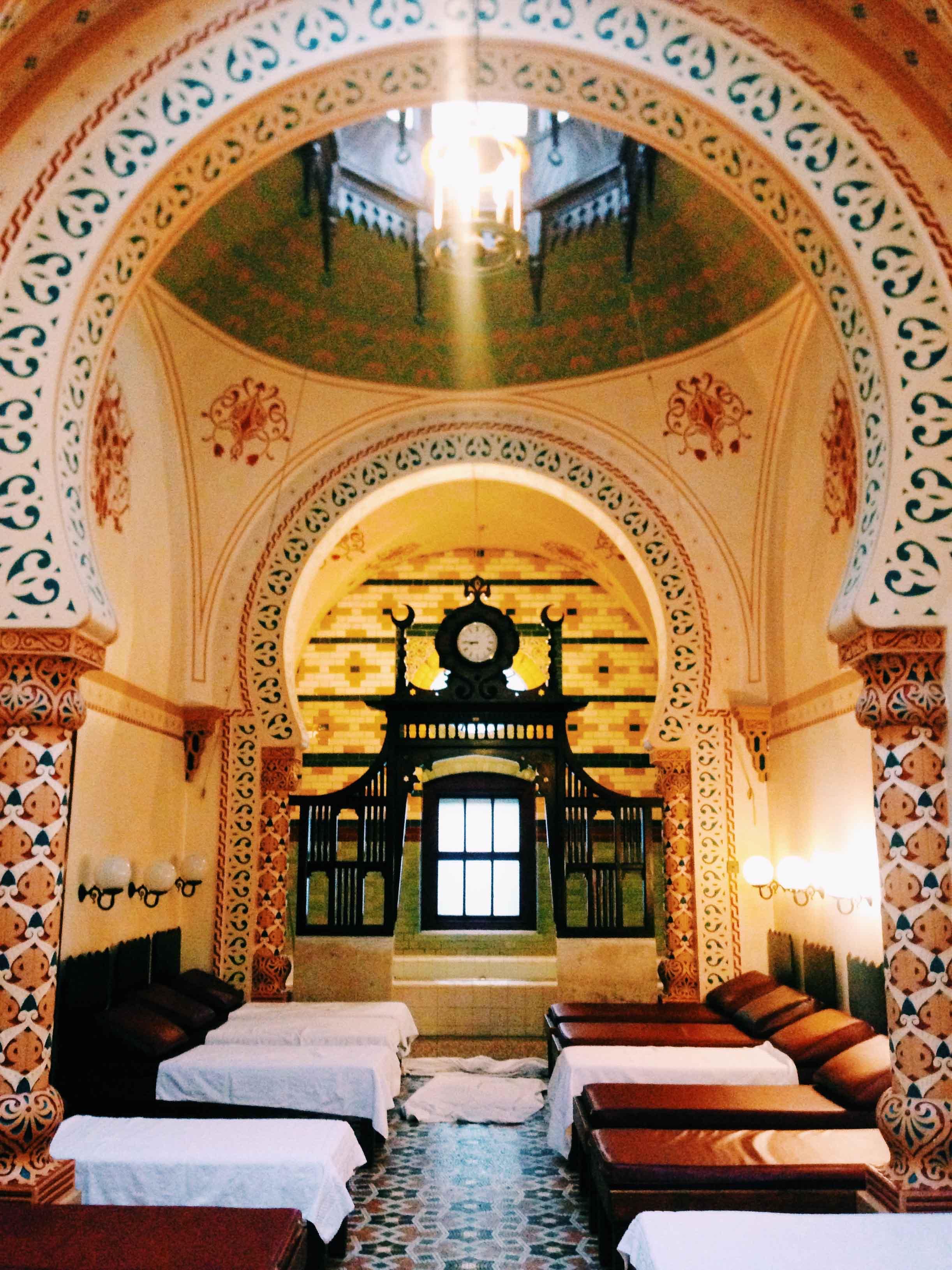 The ornate Turkish Baths in Harrogate, North Yorkshire, England.