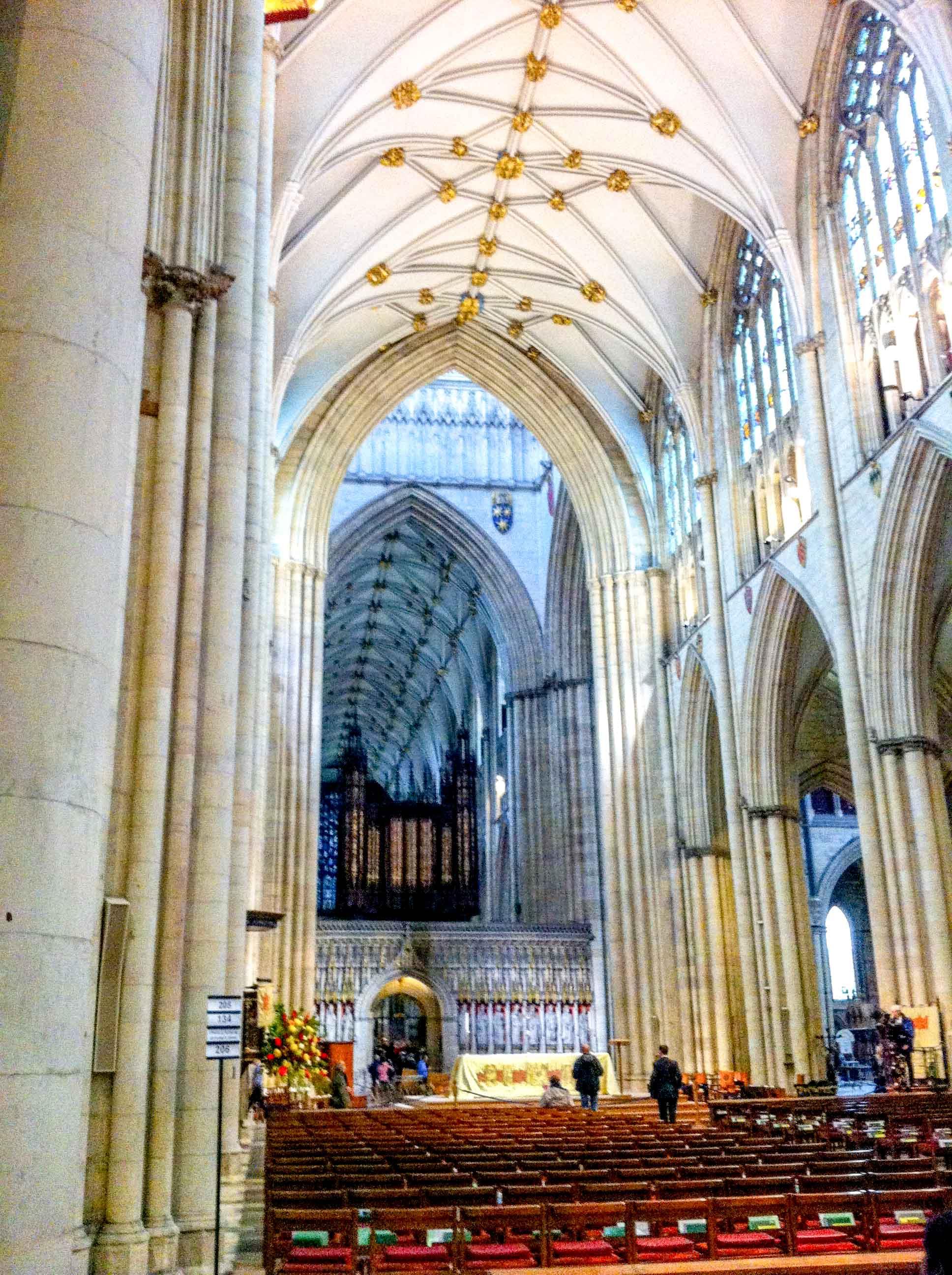 Gothic York Minster in York city, Yorkshire, England.