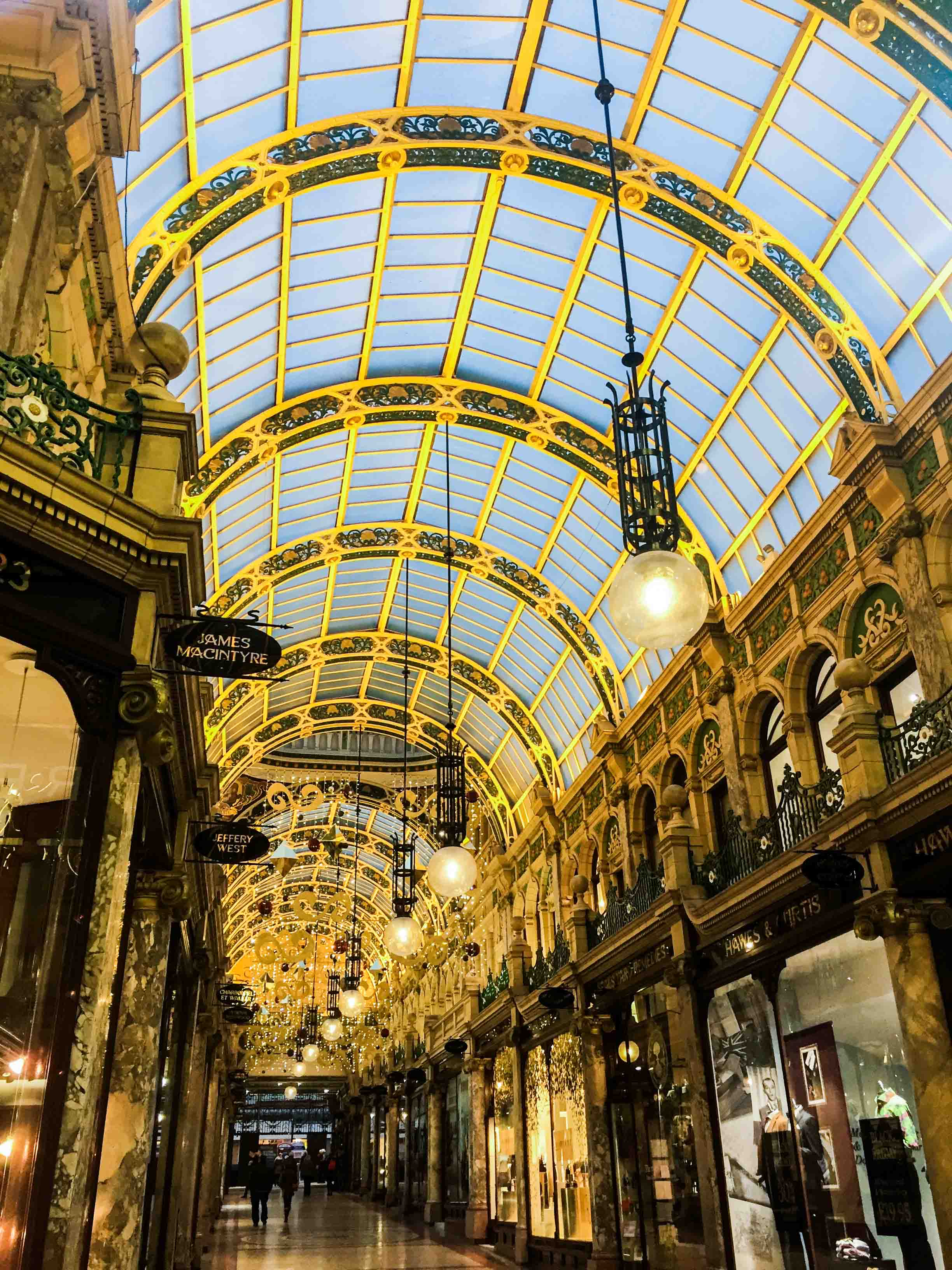 The Victoria Arcade shopping centre in Leeds, Yorkshire, England.