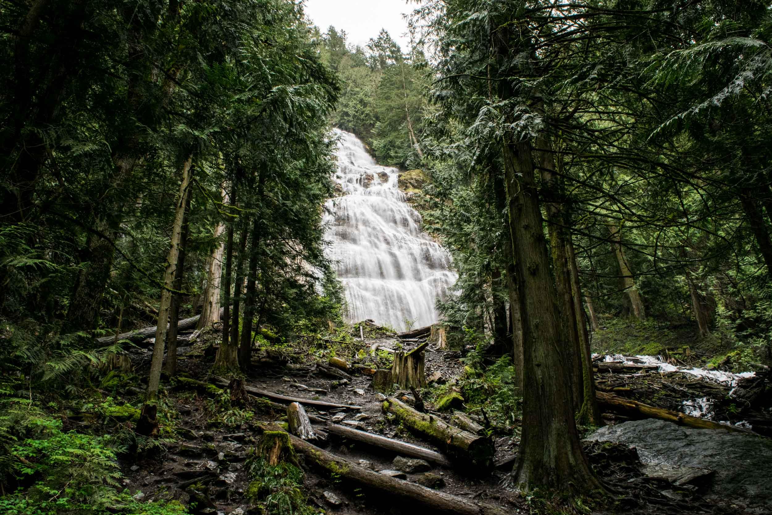 Bridal Veil Falls waterfall in Chilliwack, British Columbia, Canada.