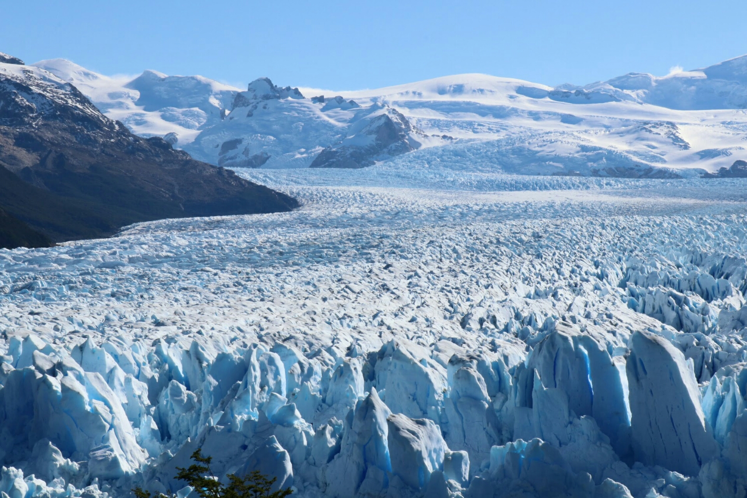 Perito Merino glacier stretching up to the Patagonian ice shelf. A whole lotta ice