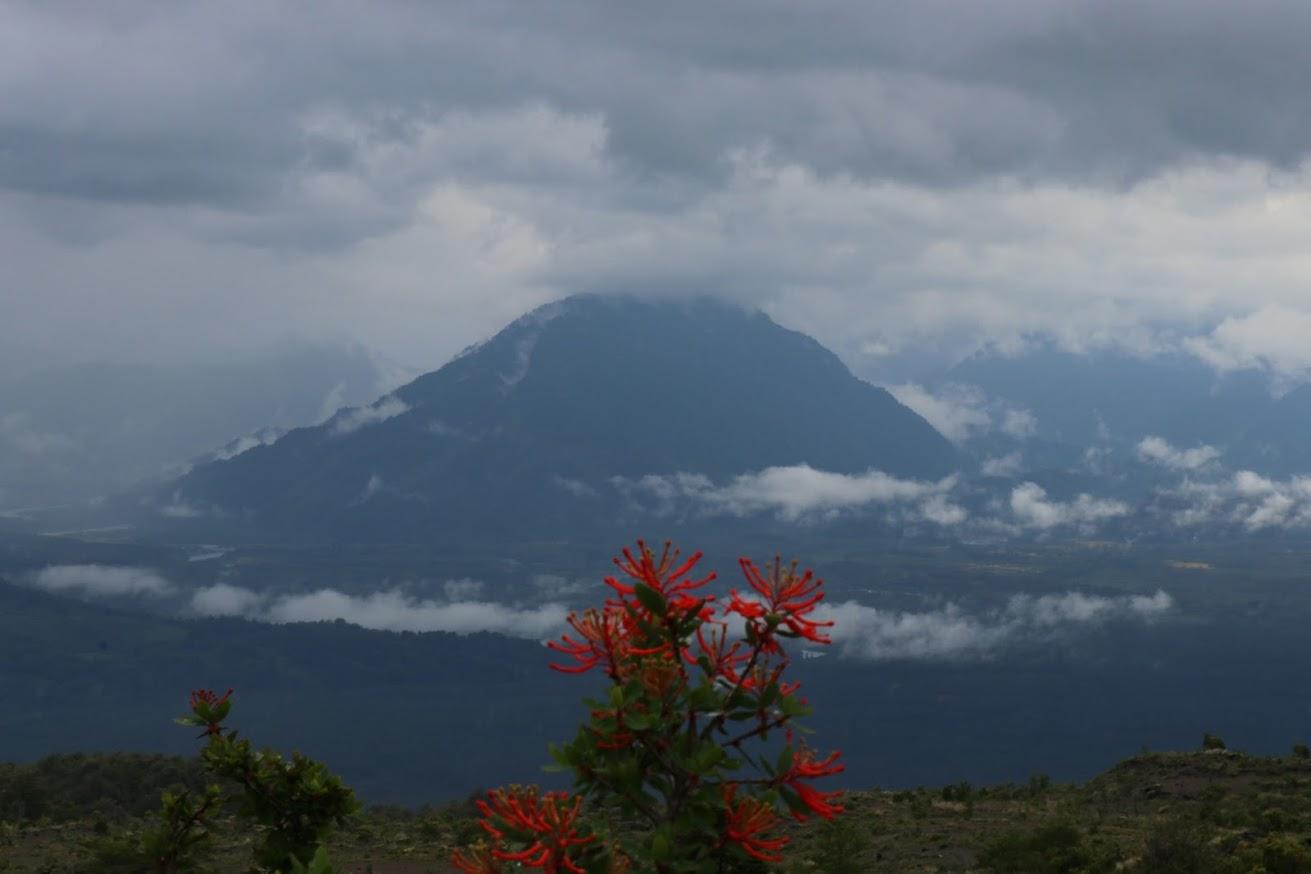 Volcano Calbuco from Volcano Osorno