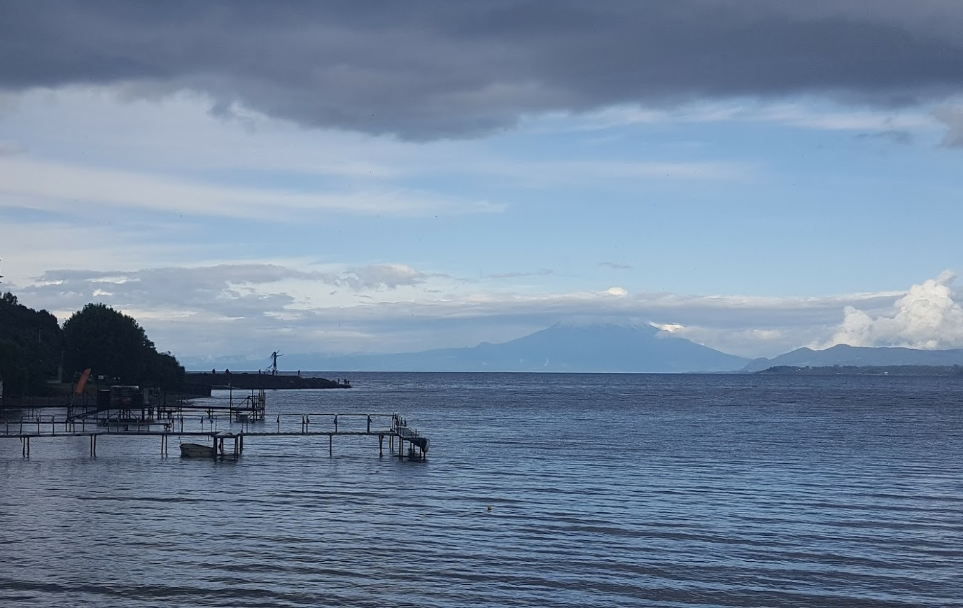 Volcano Osorno, finally showing itself on our last night